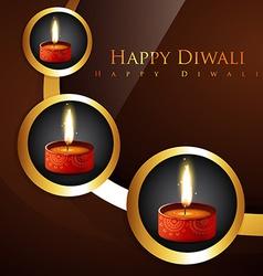 Stylish hindu festival diwali background vector
