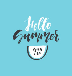 summer lettering design vector image
