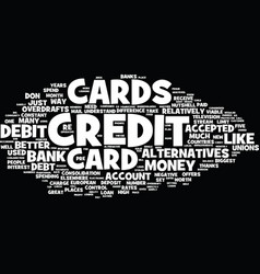 the countless alternatives to credit cards text vector image