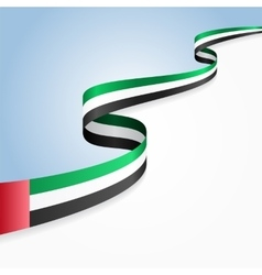 United Arab Emirates flag background vector image vector image