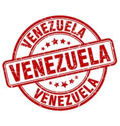 Venezuela red grunge round vintage rubber stamp vector