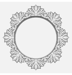 Vintage round baroque frame vector image