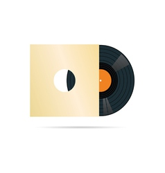 vinyl record in blank cover vector image vector image