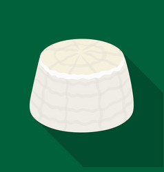 Ricottadifferent kinds of cheese single icon in vector