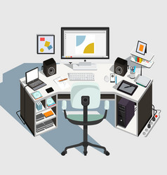 Designer workplace vector