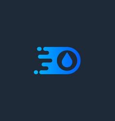 Drop logotype water delivery logo design vector