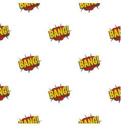 Bang comic book explosion pattern seamless vector