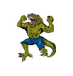 Villain Crocman vector image