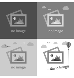 No image signs for web page vector