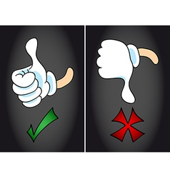 Thumb up and thumb down symbol vector