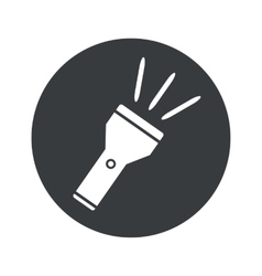 Monochrome round flashlight icon vector