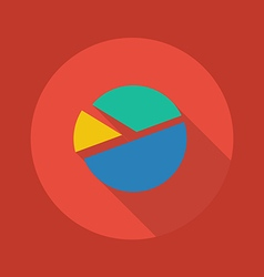 Business flat icon pie chart vector