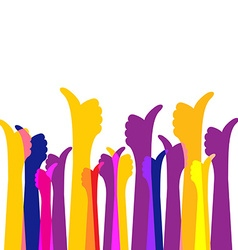 Many likes thumbs up colorful bright background vector