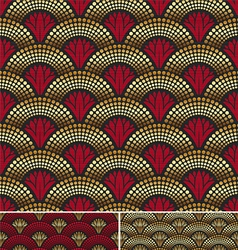 seamless decorative golden pattern vector image