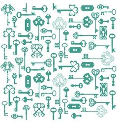 Antique Keys Background vector image