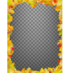 Autumn leaves frame isolated eps 10 vector
