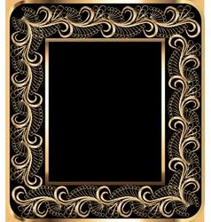 background frame with vegetable golden ornament vector image vector image