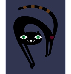 Black cat in the night vector image vector image