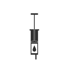 Black icon on white background medical injection vector