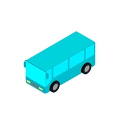Bus airport isometric 3d icon vector