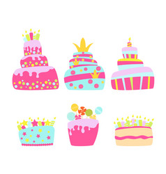cake for birthday vector image vector image