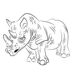 Cartoon image of rhino vector