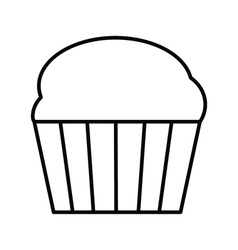 Cupcake outline icon vector image vector image