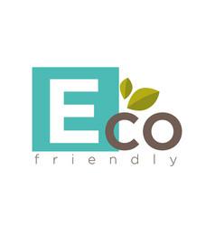 eco friendly symbol vector image