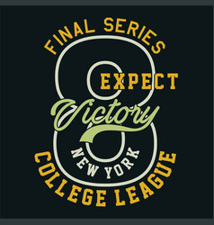 Final series expect victory vector