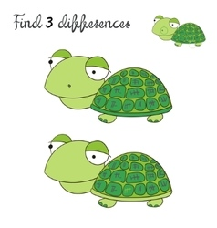Find differences kids layout for game turtle vector image vector image