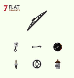 Flat auto set of belt absorber tachometr and vector