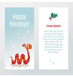 Funny christmas and new year holiday banner vector