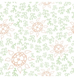 Hands draw floral seamless vector image vector image