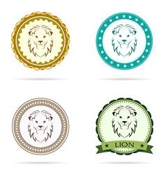 Lion label vector