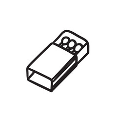 Matchbox sketch icon vector