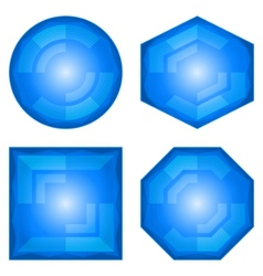 modern buttons vector image vector image