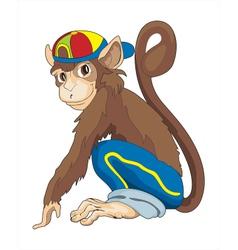 monkey boy vector image vector image