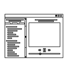 Music player template icon vector