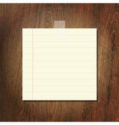 Note Papers On Wooden Background vector image vector image