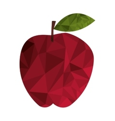 polygon texture apple icon vector image