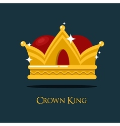 Pope or king crown tiara vector image vector image