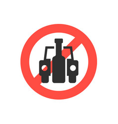 Prohibition sign no drink driving vector
