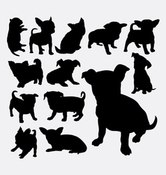 Puppy pet dog silhouette vector