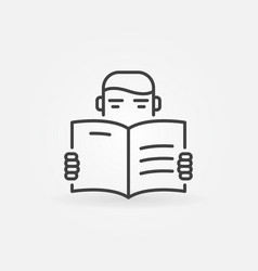 reading icon vector image vector image