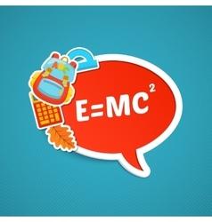 School bright stickers vector image
