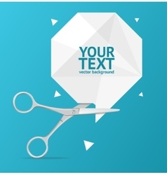 Scissors Origami Speech Bubble Banner vector image vector image