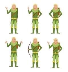 Set of forest fantasy elves vector