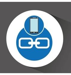 Smartphone programming web link vector