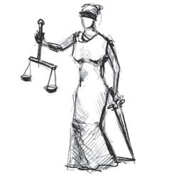 Themis femida goddess of justice vector
