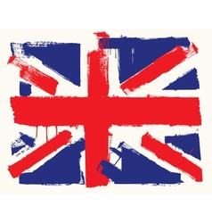 Uk paint flag vector